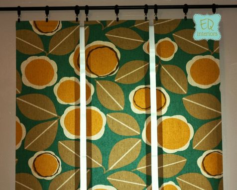 Custom Made 84l X 50w Robert Allen Modernista Floral In Amber Custom Designer Curtain Panels