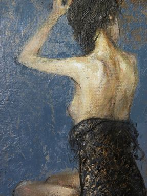 "Custom Made Art, Figure, Nude, ""Spotlight"""