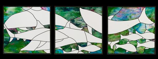 Custom Made Ocean Theme Stained Glass Window