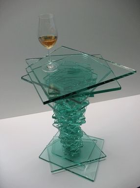 Custom Made Glass Occasional Table