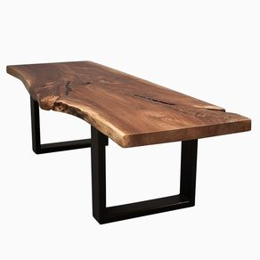 Live Edge Black Walnut Wood Coffee Table By Blake Paine