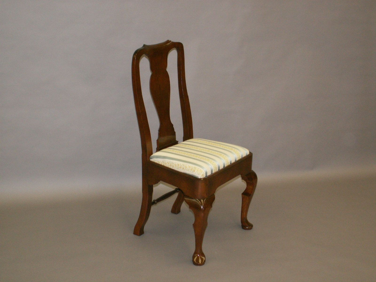 Handmade Cherry Queen Anne Chair Reproduction by John Kizer s Fine