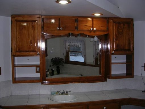 Custom Made Built-In Pine Bathroom Cabinets