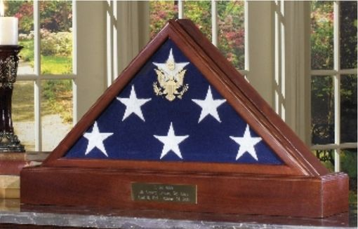 Custom Made Large Flag Display Case Fit 5 X 9.5 Flag - Burial Flag