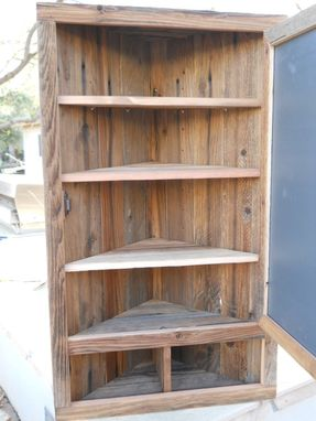 Custom Made Large Wooden Corner Medicine Cabinet