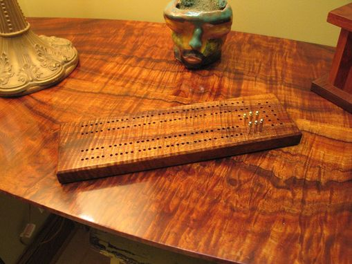 Custom Made Curly Koa Cribbage Board