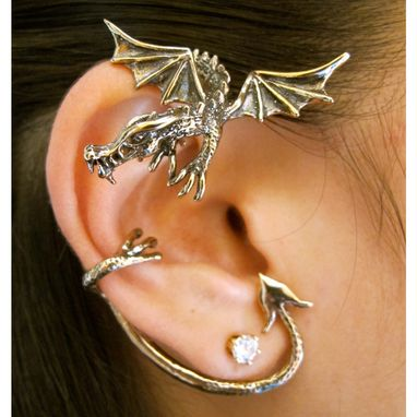 Custom Made Ear Cuff Special Dragon Ear Cuff Combo Bronze - Buy 2 Get 1 Ear Cuff Free