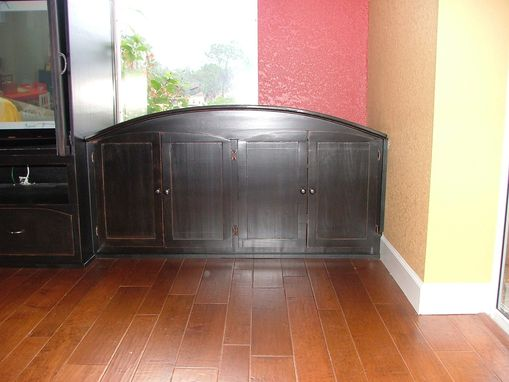 Custom Made Tuscan-Style Entertainment Center.