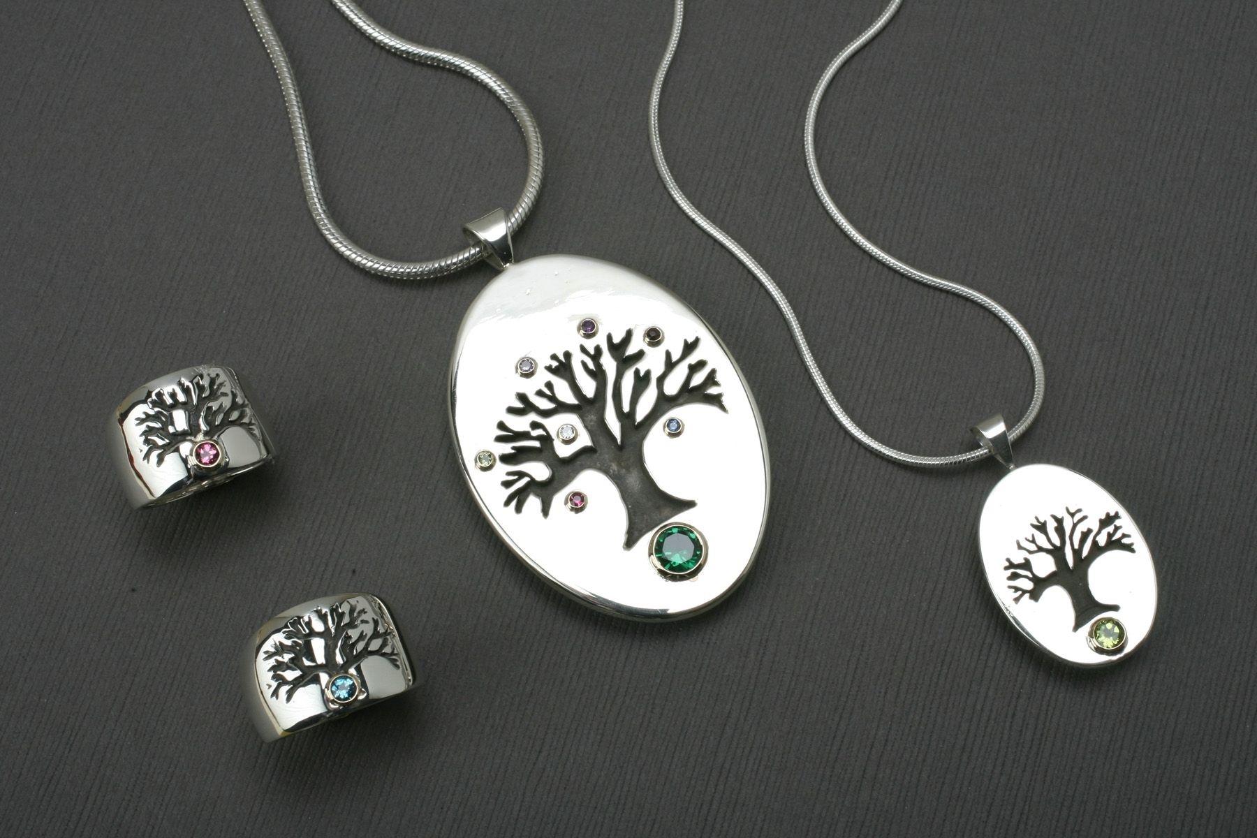 Birthstone charms birthstone charm bracelets custommade tree of life birthstone jewelry aloadofball Gallery
