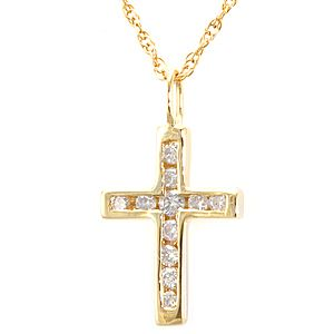 Buy a hand made diamond cross pendant in 14k yellow gold cross diamond cross pendant in 14k yellow gold cross pendant religious pendant mozeypictures Gallery