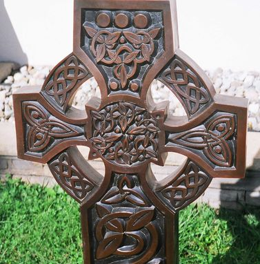 Custom Made Bronze Celtic Cross