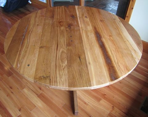 Custom Made 6' Round Barn Beam Dinning Table