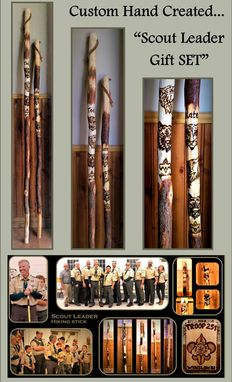 Custom Made Wood Anniversary Gift,Hiking Stick,Walking Stick,Hiking Pole,Retirement Gift,Troop Leader Gift,Scout