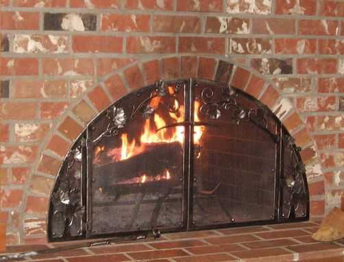 Custom Made Grape Vine Fire Screen