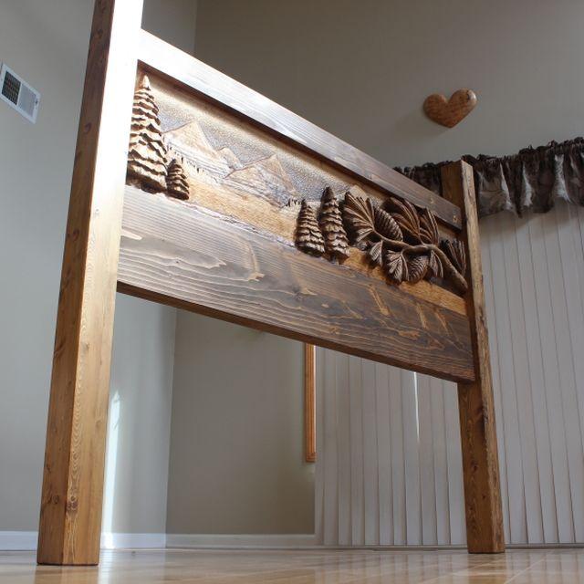 Hand made custom hand carved headboards handmade beds king
