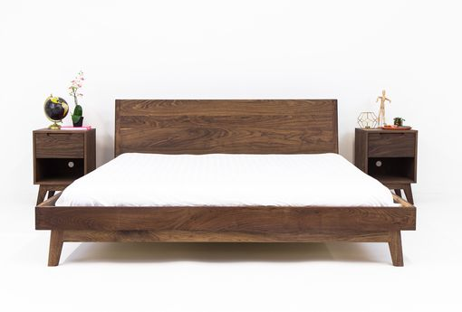 Buy A Custom The Bosco Mid Century Modern Solid Walnut Bed Made To Order From Moderncre8ve