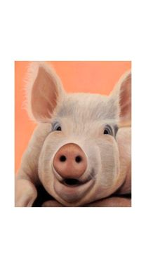 Custom Made Pig Magnet - Big Pig Art - Funny Pig Art - 10% Benefits Animal Charity