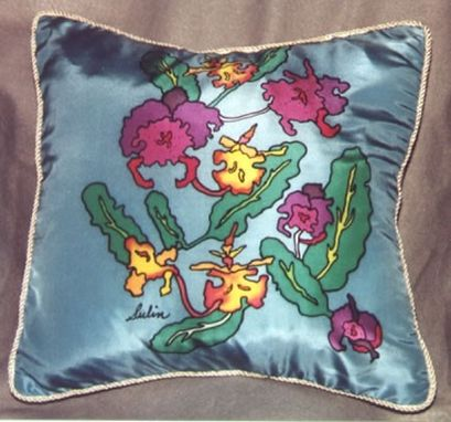 Custom Made Orchids:  Pillows, Scarves Or Wall Hangings