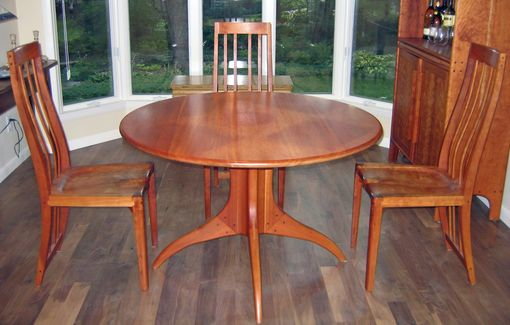 Custom Made Cherry Dining Table Plus Four Chairs