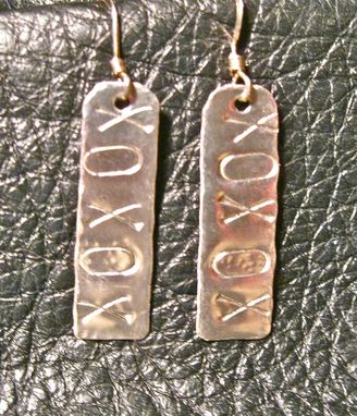 Custom Made Xoxo Sterling Silver Earrings