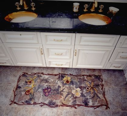 Custom Made Bed Of Orchids Hand Painted Floor Mural