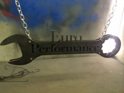 Custom Made Wrench Sign