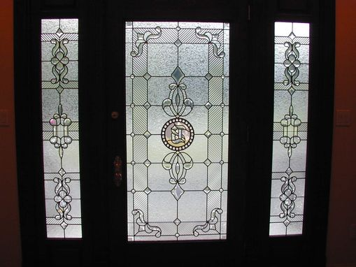 Custom Made Custom Leaded And Beveled Door And Sidelights