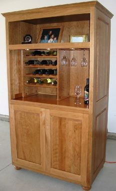 Custom Made Cherry Wine Armoire