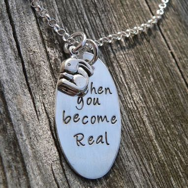 Custom Made Then You Become Real - Velveteen Rabbit Mother's Necklace