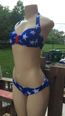 Custom Made Wonder Woman Inspired Stars Two-Piece Bikini