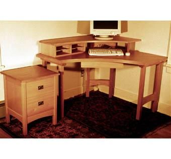 Custom Made Craftsman Desk And Cabinets