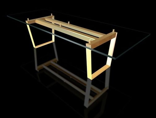 Custom Made Glass Top Dining Table