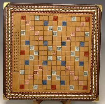 Custom Made Leather Scrabble Board