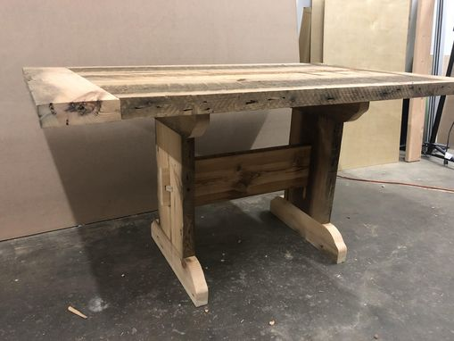 "Custom Made The ""Park Building"" Reclaimed Dining Table."