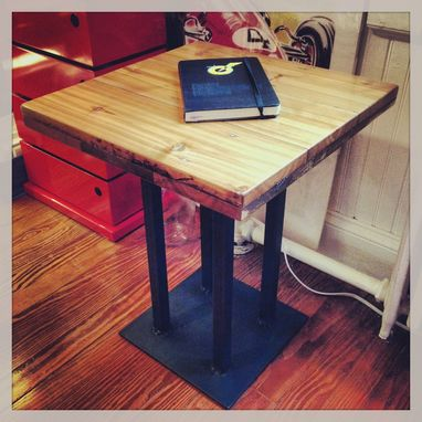 Custom Made Coffee-Stained End Table