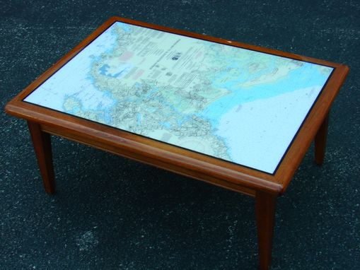 Custom Made Marine Chart Coffee Table