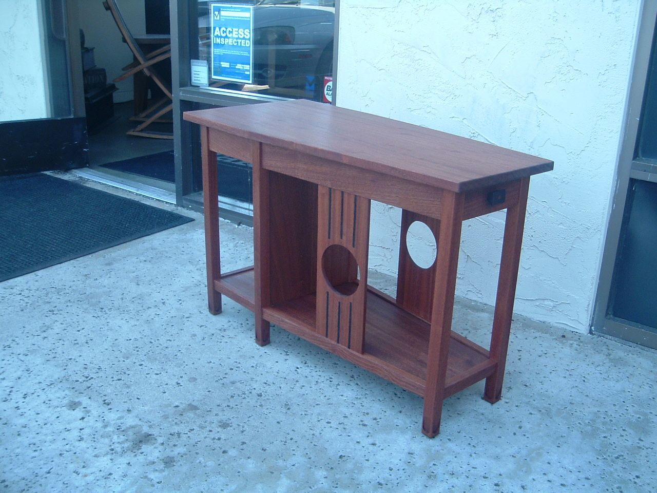 Custom Clark S Wedge Shaped Mission Style Center Table By Jonathan
