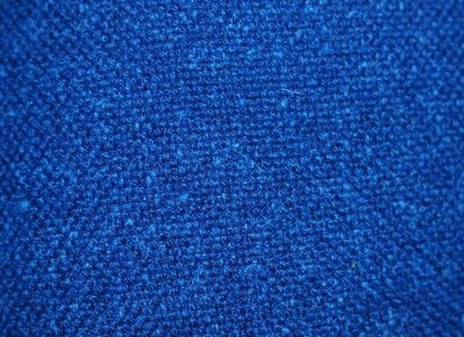 Custom Made Gem Blue Cotton Boucle Decorative Pillow Cover