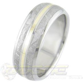 cobalt chrome meteorite rings - Meteorite Wedding Ring
