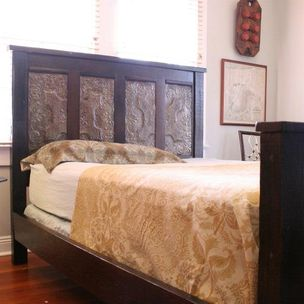 New Orleans Inspired Bed Made From Cypress Doors And Reclaimed Wood By