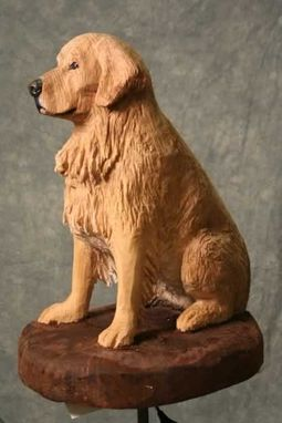 Custom Made Custom Life Size Dog Carvings