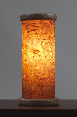 Custom Made Wood Accent Light - Amber