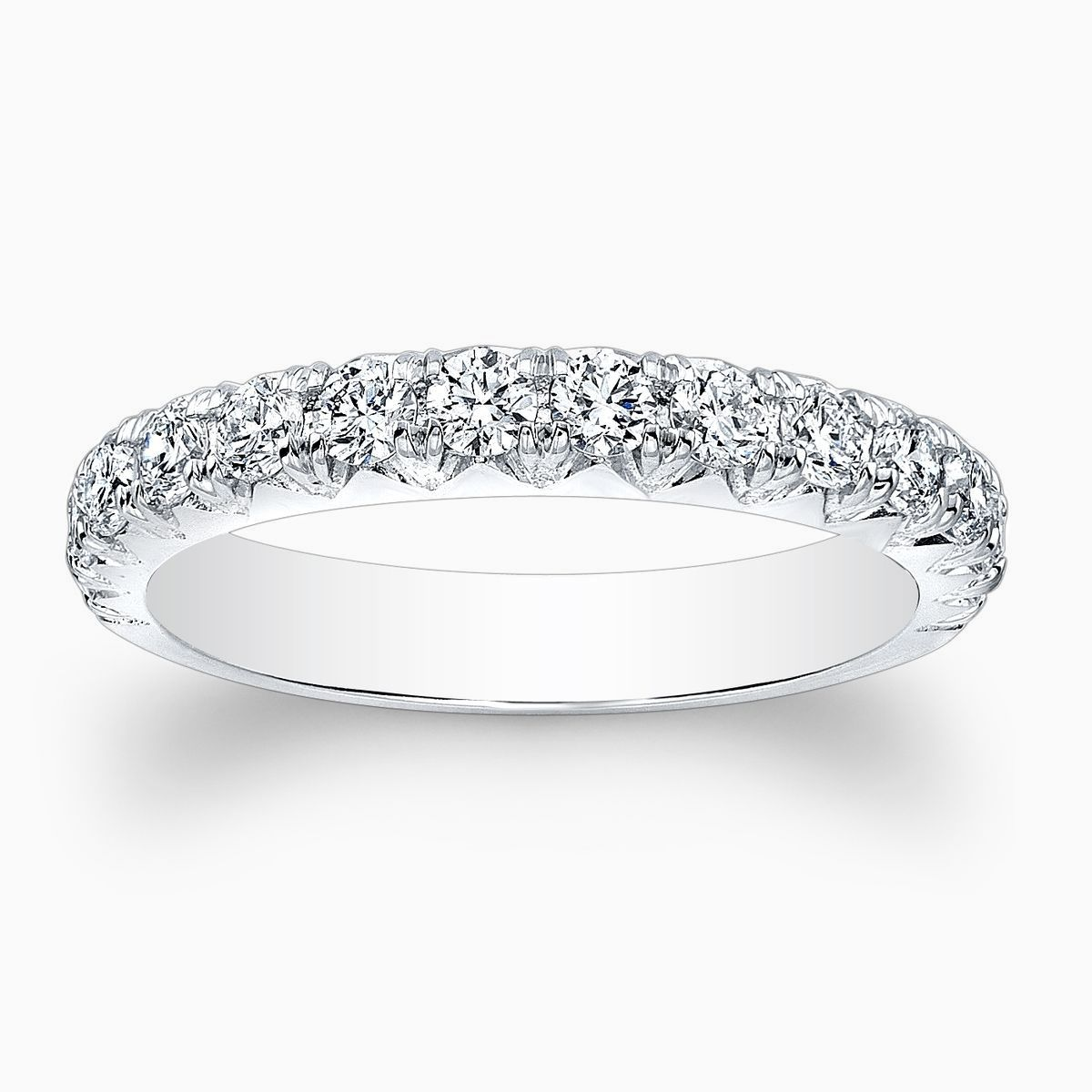diamond bands topic img scalloped band wedding only