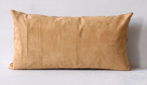 Custom Made Silk And Suede Gold Pillow