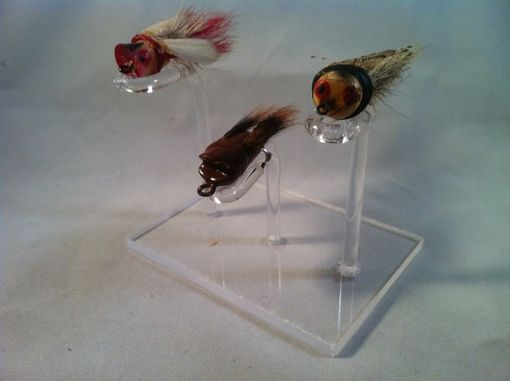 Custom Made Triple Fly Rod Lure Display Stand