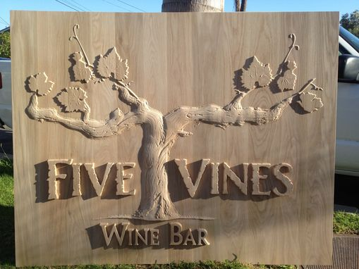 Custom Made Wine Bar Sign