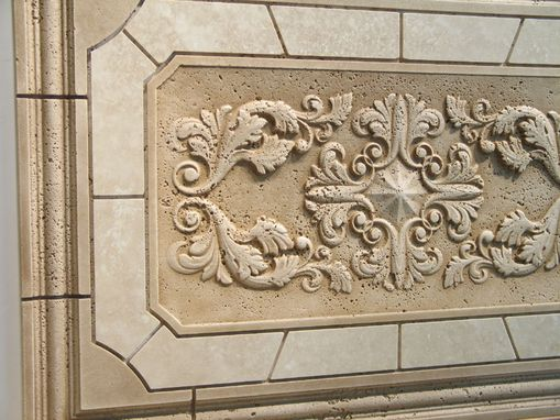 Custom Made Back Splash Relief Carved Stone Tile