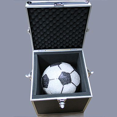 Custom Made White Black Diamond Soccer Ball Life-Size