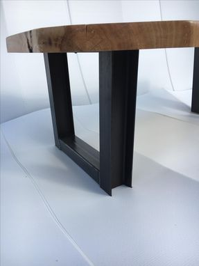Custom Made Coffee Table,Live Edge,Natural Wood,Woodworking,Living Room,Office,Wood Table,Steel Base,Reclaimed