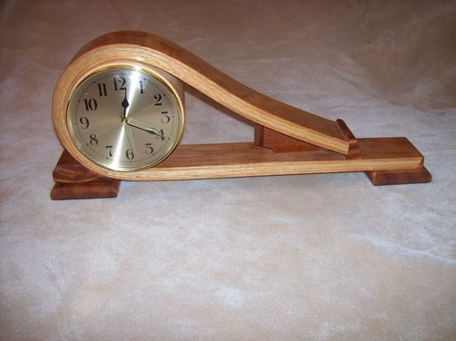 Custom Made Curved Mantel Clock